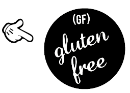 Gluten Free options are available