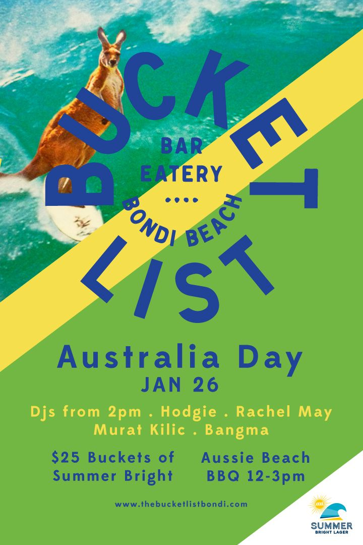 The Bucket List | Bar Eatery Bondi beach - Past Events