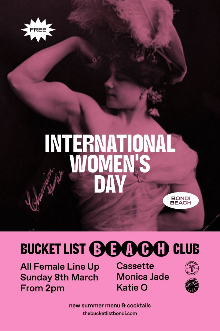 SUNDAY BEACH CLUB - INTERNATIONAL WOMENS DAY