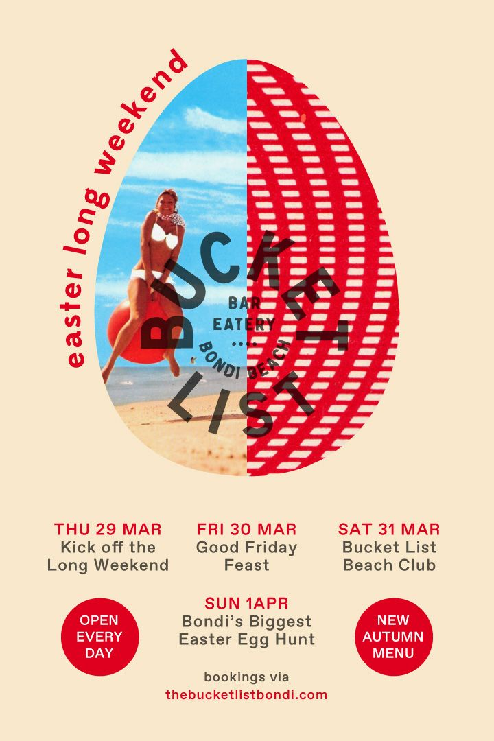 EASTER LONG WEEKEND AT THE BUCKET LIST